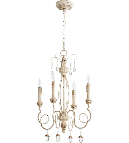 quorum 6044 4 70 venice 4 light 17 inch persian white chandelier