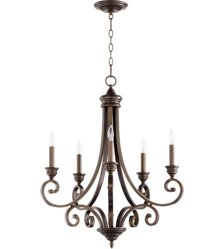 Quorum 6054-5-86 Bryant 26 inch Oiled Bronze Chandelier Ceiling Light photo