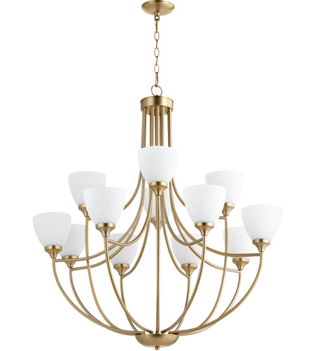 Aged Brass Enclave Chandeliers