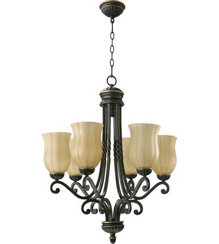 Quorum International Tribeca 6 Light Chandelier In Old World 6078 95