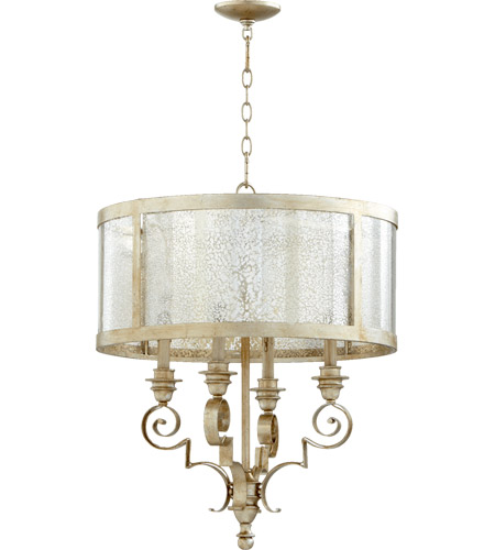 Quorum Aged Silver Leaf Chandeliers