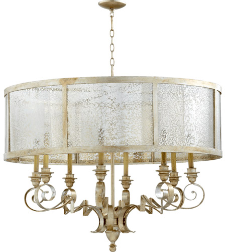 Quorum 6082-8-60 Champlain 8 Light 38 inch Aged Silver Leaf Chandelier Ceiling Light photo