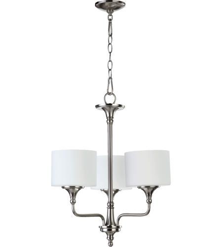Quorum 6090 3 65 Rockwood 3 Light 22 Inch Satin Nickel Chandelier Ceiling Light