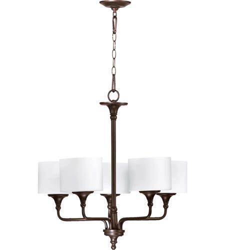 Quorum 6090 5 86 Rockwood 5 Light 27 Inch Oiled Bronze Chandelier Ceiling Light