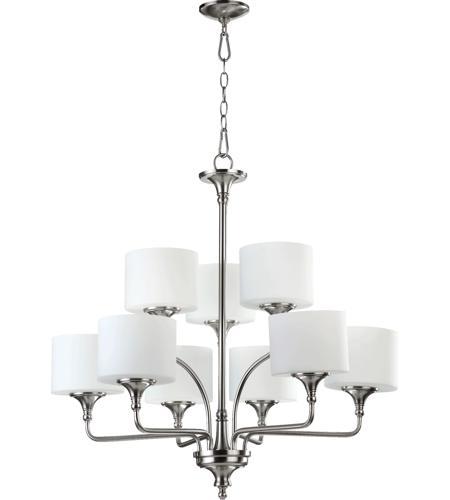 Quorum International Rockwood 9 Light Chandelier In Satin Nickel 6090 9 65