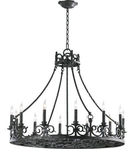 Lorenco 12 Light 34 Inch Spanish Silver Chandelier Ceiling