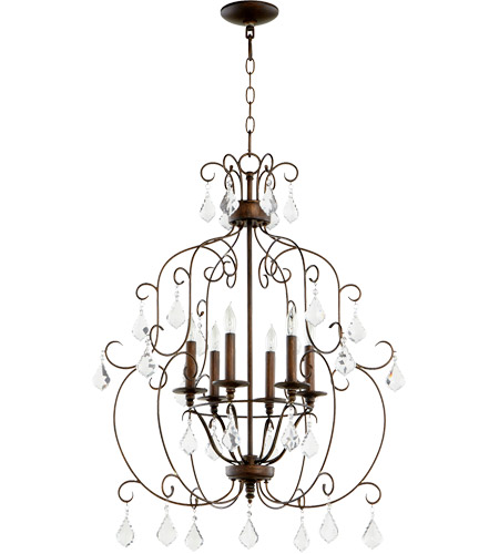 Quorum 6105-6-39 Ariel 6 Light 24 inch Vintage Copper Chandelier Ceiling Light photo