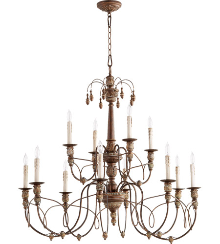 Quorum 6106 12 39 salento 12 light 39 inch vintage copper chandelier quorum 6106 12 39 salento 12 light 39 inch vintage copper chandelier ceiling light aloadofball Choice Image