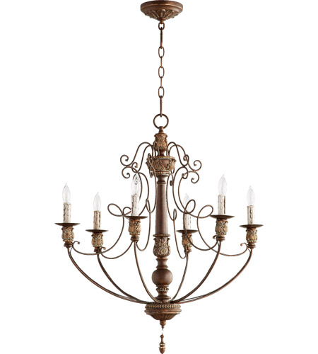 Quorum 6106-6-39 Salento 6 Light 27 inch Vintage Copper Chandelier Ceiling Light photo