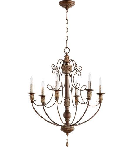 Quorum 6106 6 39 salento 6 light 27 inch vintage copper chandelier quorum 6106 6 39 salento 6 light 27 inch vintage copper chandelier ceiling light aloadofball Gallery