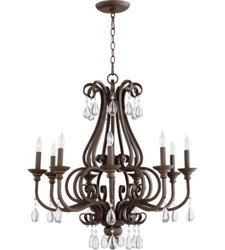 Quorum 6113-9-86 Anders 9 Light 30 inch Oiled Bronze Chandelier Ceiling Light photo