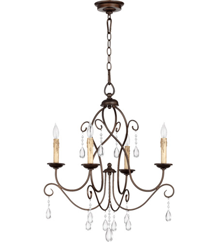 Quorum 6116-4-86 Cilia 4 Light 22 inch Oiled Bronze Chandelier Ceiling Light  photo