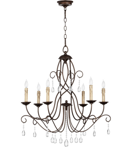 Quorum 6116-6-86 Cilia 6 Light 28 inch Oiled Bronze Chandelier Ceiling Light photo