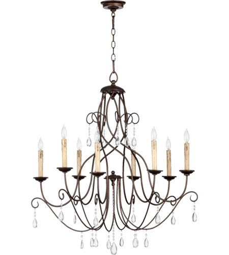 Quorum 6116 8 86 Cilia Light 32 Inch Oiled Bronze Chandelier Ceiling