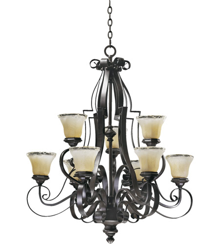 Quorum International Delphi 9 Light Chandelier in Coffee 6121-9-13