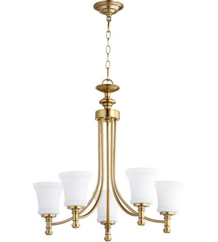 Aged Brass Rossington Chandeliers