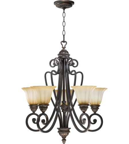 Quorum 6126-5-44 Summerset 5 Light 24 inch Toasted Sienna Chandelier Ceiling Light photo