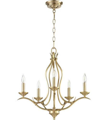 Quorum 613 5 80 Flora Light 20 Inch Aged Br Chandelier Ceiling