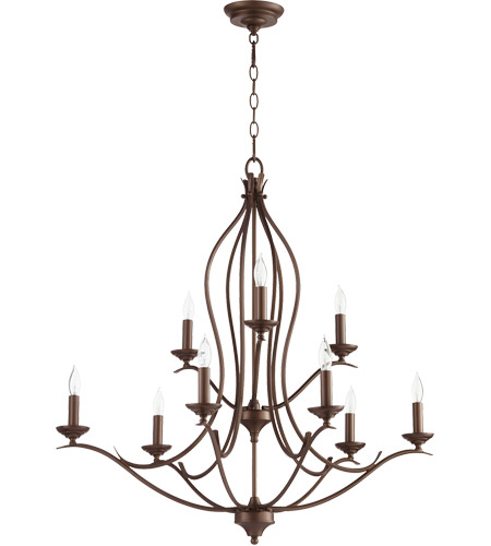 Flora 9 Light 32 Inch Oiled Bronze Chandelier Ceiling