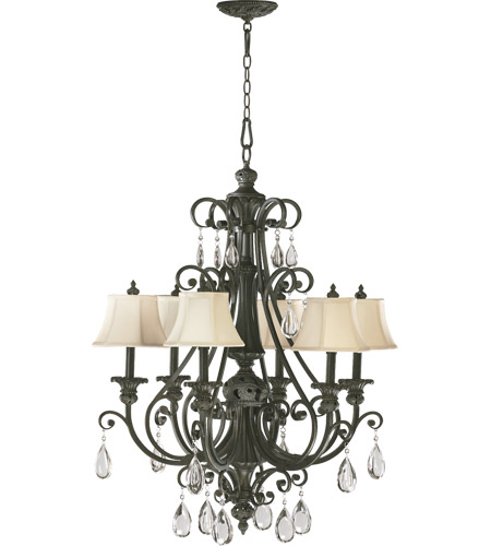 Quorum 6132 6 54 fulton 6 light 30 inch classic bronze chandelier quorum 6132 6 54 fulton 6 light 30 inch classic bronze chandelier ceiling light aloadofball Image collections