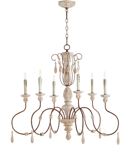 Quorum 6152 6 156 la maison 6 light 36 inch manchester grey with quorum 6152 6 156 la maison 6 light 36 inch manchester grey with rust accents chandelier ceiling light aloadofball Image collections