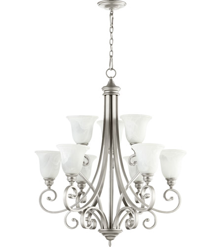 Quorum 6154 9 64 bryant 9 light 31 inch classic nickel chandelier quorum 6154 9 64 bryant 9 light 31 inch classic nickel chandelier ceiling light aloadofball Image collections