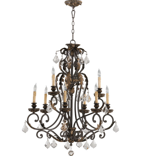 Quorum 6157-9-44 Rio Salado 9 Light 32 inch Toasted Sienna With Mystic Silver Chandelier Ceiling Light  photo