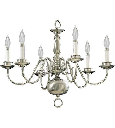 Quorum 6171-6-65 Signature 6 Light 24 inch Satin Nickel Chandelier Ceiling Light photo