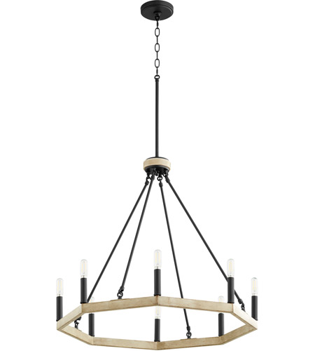 Quorum 6189-8-69 Alpine 8 Light 25 inch Noir with Driftwood Chandelier Ceiling Light photo