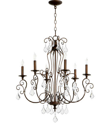 Quorum 6205-6-39 Ariel 6 Light 27 inch Vintage Copper Chandelier Ceiling Light  sc 1 st  Quorum Lighting Lights & Quorum 6205-6-39 Ariel 6 Light 27 inch Vintage Copper Chandelier ...