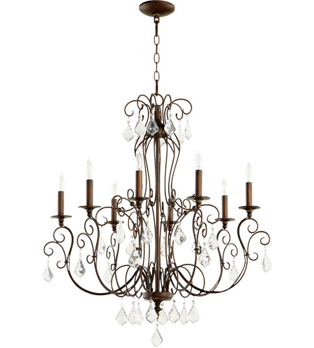 Quorum 6205-8-39 Ariel 8 Light 30 inch Vintage Copper Chandelier Ceiling Light photo