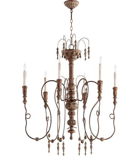 Quorum 6206 6 39 salento 6 light 34 inch vintage copper chandelier quorum 6206 6 39 salento 6 light 34 inch vintage copper chandelier ceiling light aloadofball Gallery