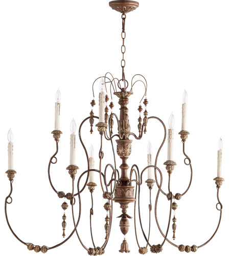 Quorum 6206-9-39 Salento 9 Light 41 inch Vintage Copper Chandelier Ceiling Light, Comes with 8 feet of Chain photo