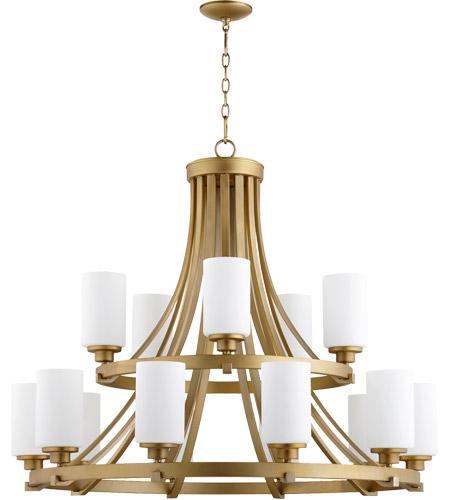 Quorum 6207 15 80 Lancaster 15 Light 38 Inch Aged Brass Chandelier Ceiling  Light
