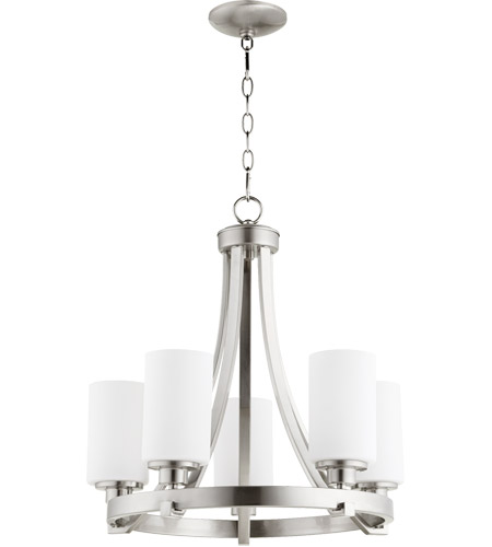 Quorum 6207-5-65 Lancaster 5 Light 21 inch Satin Nickel Chandelier Ceiling Light photo