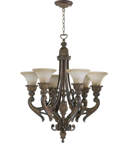 Quorum 6230-6-88 Madeleine 6 Light 27 inch Corsican Gold Chandelier Ceiling Light photo