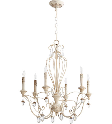 Quorum 6244-6-70 Venice 6 Light 26 inch Persian White Chandelier Ceiling Light photo thumbnail