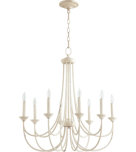 Quorum 6250-8-70 Brooks 8 Light 29 inch Persian White Chandelier Ceiling Light photo
