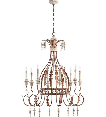 Quorum international la maison 8 light chandelier in for A la maison international