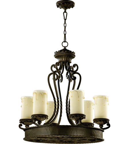 Quorum 6286-6-86 Alameda 6 Light 28 inch Oiled Bronze Chandelier Ceiling Light photo