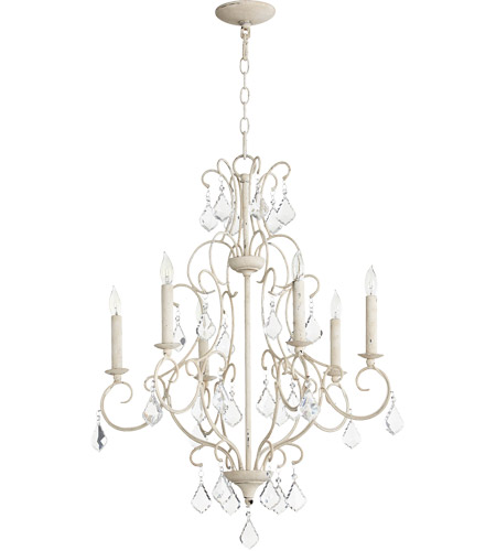 Quorum 6305-6-70 Ariel 6 Light 24 inch Persian White Chandelier Ceiling Light photo