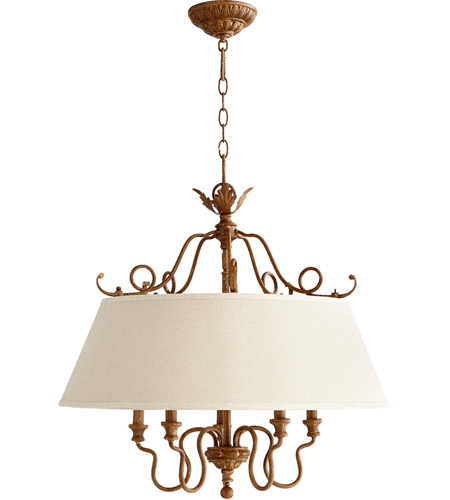 Quorum 6306-5-94 Salento 5 Light 27 inch French Umber Dinette Chandelier Ceiling Light photo