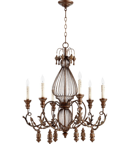 Quorum 6306-6-39 Salento 6 Light 28 inch Vintage Copper Chandelier Ceiling Light photo