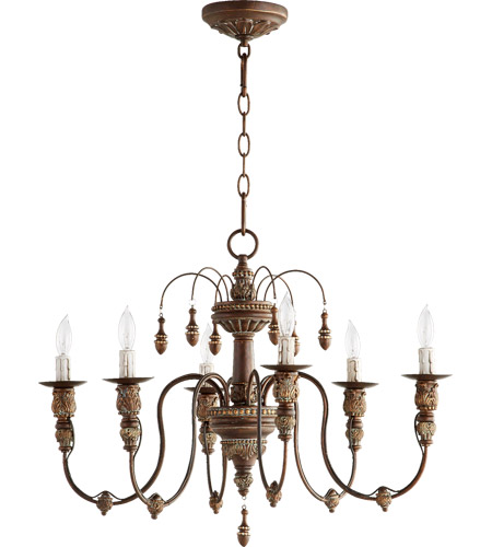 Quorum 6316-6-39 Salento 6 Light 25 inch Vintage Copper Chandelier Ceiling Light photo