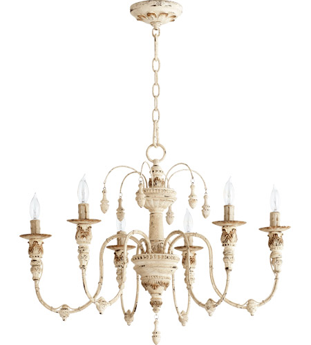 Quorum 6316 6 70 Nto Light 25 Inch Persian White Chandelier Ceiling