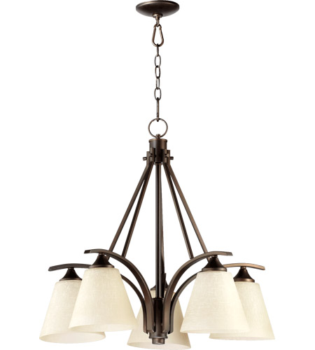 Quorum 6329-5-186 Winslet II 5 Light 28 inch Oiled Bronze Dinette Chandelier Ceiling Light photo