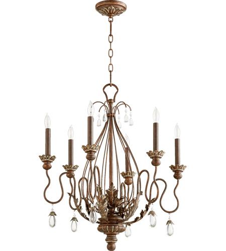 Quorum 6344-6-39 Venice 6 Light 25 inch Vintage Copper Chandelier Ceiling Light photo