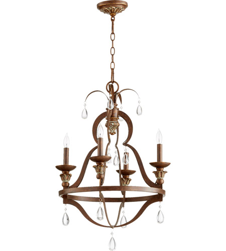 Quorum 644 4 39 venice 4 light 20 inch vintage copper chandelier quorum 644 4 39 venice 4 light 20 inch vintage copper chandelier ceiling light aloadofball Choice Image