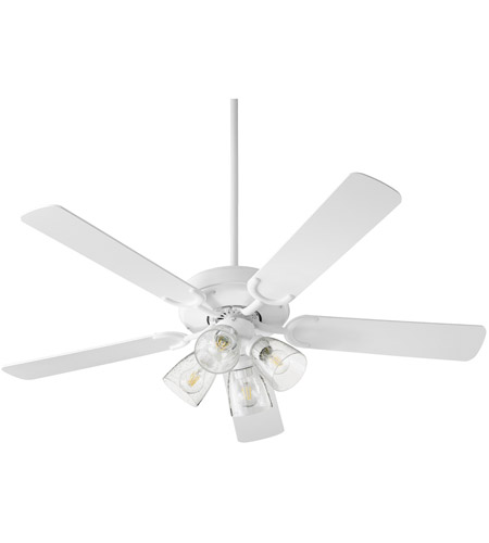 Quorum 6525-2408 Virtue 52 inch Studio White Ceiling Fan, Quorum Home photo