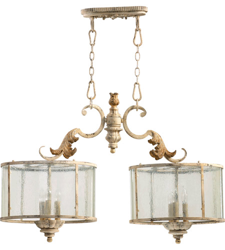 Quorum 6537-6-70 Florence 6 Light 36 inch Persian White Island Light Ceiling Light photo